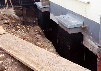 Abdichtung eines Kellers mit Baudaplant E (Wurzelschutz)